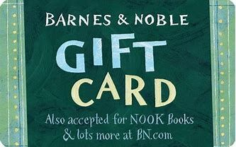 $25 gift card from Barnes & Noble