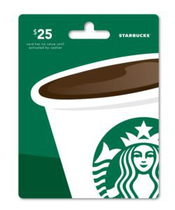 $25 Starbucks Gift Card