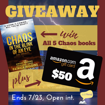 $50 Amazon gift card & the first five books in the Chaos series