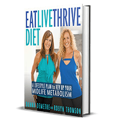 Eat, Live, Thrive Diet: A Lifestyle Plan to Rev Up Your Midlife Metabolism by Danna Demetre, Robyn Thomson